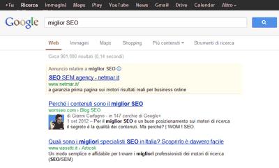 L'interfaccia rinnovata della SERP Google
